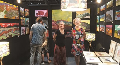 Bindi exhibits at Darwin Aboriginal Art Fair Image